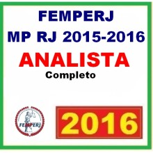 FEMPERJ - MP RJ 2015 - 2016 - Analista