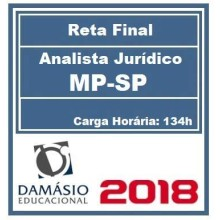 RETA FINAL MP-SP (ANALISTA JURÍDICO) PÓS EDITAL 2018