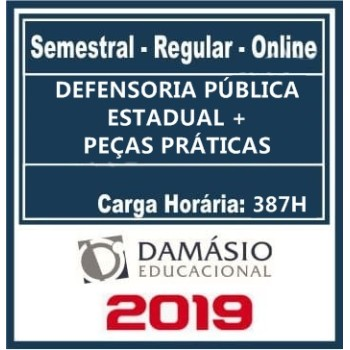 DEFENSORIA PÚBLICA ESTADUAL (DPE) REGULAR 2019 (D)