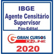 IBGE – AGENTE CENSITÁRIO SUPERVISOR – 2020 (G)