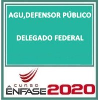 AGU + DEFENSOR PUBLICO DA UNIÃO + DELEGADO FEDERAL REGULAR 2019/2020 (EN)