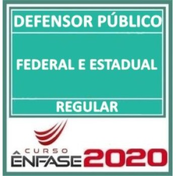 DEFENSOR PUBLICO FEDERAL E ESTADUAL REGULAR 2020 (EN)