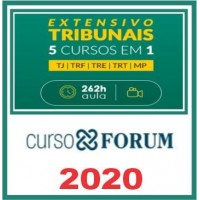 Tribunais Extensivo 5 x 1 - TJ / TRF / TRE / TRT / MP - 2020