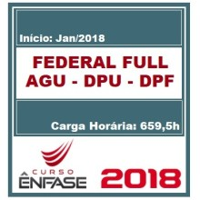 FEDERAL FULL (AGU - DPU - DPF) ENFASE 2018
