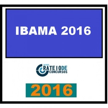 IBAMA 2016 – Analista Ambiental do IBAMA 2016